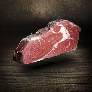 Rib Eye Steak Aqua Aged 400g vom Simmentaler Rind Färse vier Wochen in natürlichem Mineralwasser gereift Exklusiv bei Der Ludwig ideal für die Zubereitung in der Pfanne oder auf dem Grill RibEye Steak bei Der Ludwig kaufen
