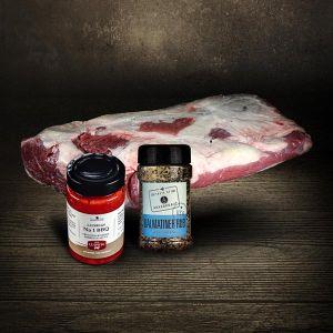 Paket | Beef Brisket Paket | Simmentaler Rind |4.500g | Ankerkraut Rub im Streuer | LUDWIGS BBQ NO. 1