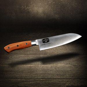 Hochwertiges Santoku Messer mit Pflaumeholzgriff und Gravur von F.Dick |Metzgerei DER LUWIG |Hier bestellen |