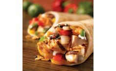 Pulled-Pork-Burritos mit Rühreiern und Käse