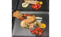 Melone |Chicorée | Lachs | Zitrone