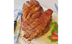 Schweinebraten mit Schwarte und Ofengemüse