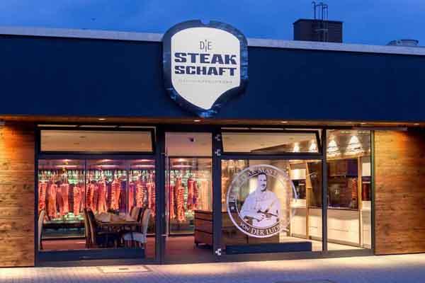 Aussenansicht der Steakschaft - Die Fleischerlebniszentrale