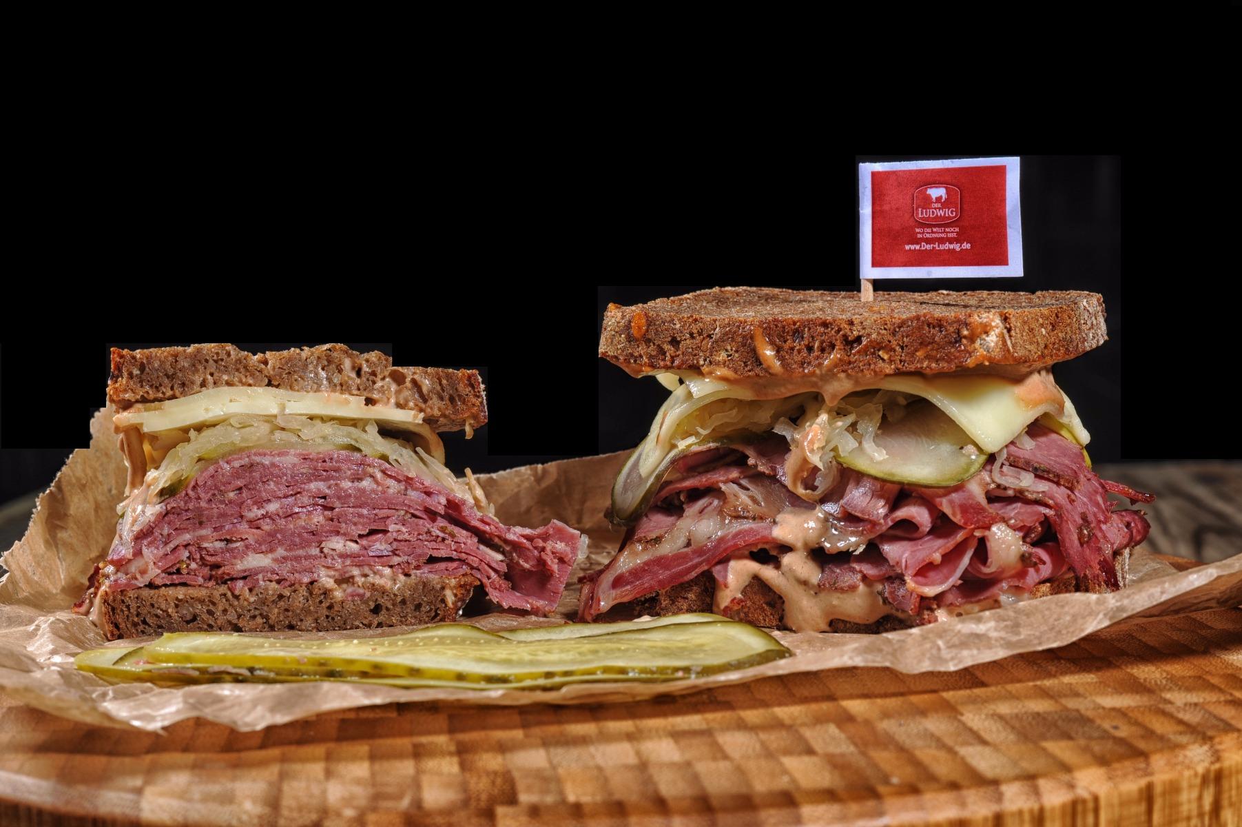 Pastrami Sandwich mit Ludwigs Pastrami