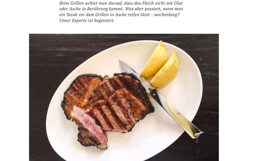 Foto aus dem SZ Magazin über den Erfahrungsbericht von unserem Asche Aged Beef