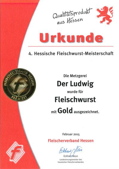 Urkunde Fleischwurst