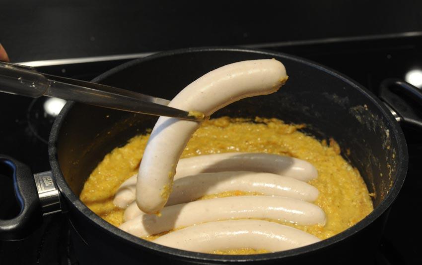 Schlesische Weißwurst zubereiten
