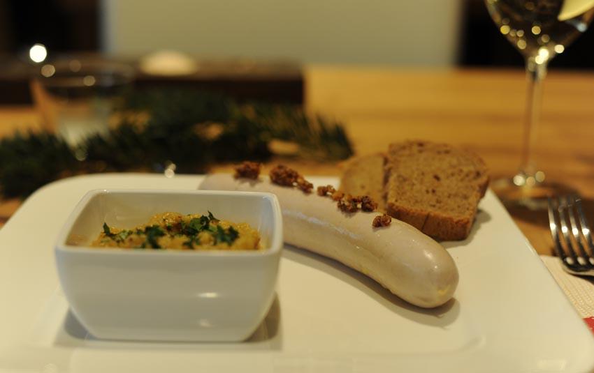 Schlesische Weißwurst an Lebkuchentunke